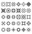 set of geometric simple forms suits for swatches vector image vector image