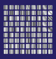 silver squares glass collection background steel vector image
