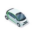 small city car isometric 3d element vector image