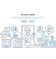 social media - modern line design style vector image vector image