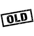 square grunge black old stamp vector image vector image