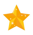 star golden isolated icon vector image