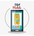 taxi mobile cab service icon design vector image