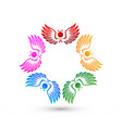 teamwork angel people icon vector image vector image