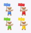 Teddy Bears with Colored Signboards vector image vector image