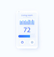 thermostat app mobile ui design vector image