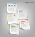 Time line info graphic with abstract note paper vector image
