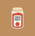 tomato paste bottle in flat style vector image vector image