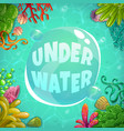 underwater background with place for text vector image vector image