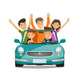 vacation journey concept happy young people or vector image