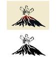 volcano erupting vector image vector image