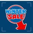 winter sale - information sign vector image
