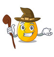 witch simple gold egg on design character vector image