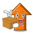with box arrow character cartoon style vector image