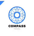 abstract multicolor compass symbol logotype vector image vector image