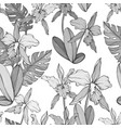 abstract vintage seamless floral pattern vector image