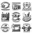 American Football Black White Emblems vector image vector image