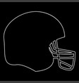 american football helmet the white path icon vector image vector image