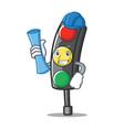 architect traffic light character cartoon vector image vector image