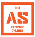 Arsenic chemical element vector image vector image