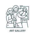 art gallerypainterartists line icon art vector image vector image