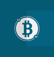 bitcoin in quotes for web design vector image vector image