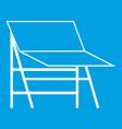 blank portable screen icon white vector image