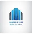 blue vertical abstract office building logo vector image vector image