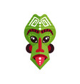 bright green ritual mask of zulu people african vector image vector image