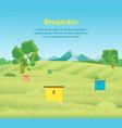 cartoon beekeeping apiary farm garden landscape vector image