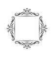 classic vintage square contour frame vector image vector image