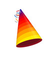 colored party hat vector image vector image