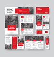 corporate style with square red design elements vector image