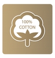 Cotton label vector image