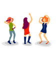 dancing girl figure in flat style people dance vector image