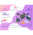 data network isometric concept vector image