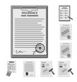 design of form and document logo set of vector image