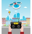 Drone Above The City vector image