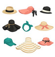 female hat fashion types headwear for women vector image