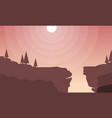 flat scenery cliff for game background vector image