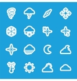 Flat weather stickers set vector image