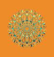 floral round decorative symbol vintage decorative vector image vector image