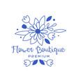 flower boutique premium logo design floral emblem vector image vector image