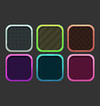 funny cartoon colorful square frames for app icons vector image