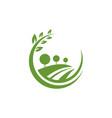 garden natural green logo vector image vector image