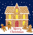 gingerbread house card vector image vector image