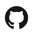github logo icon vector image