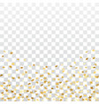 gold star confetti background vector image vector image