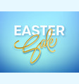 golden metallic shiny typography easter sale 3d vector image