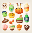 halloween treats vector image vector image